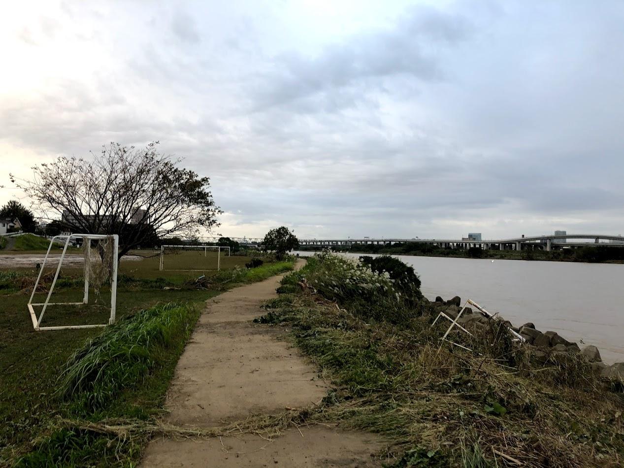 台風と相模川